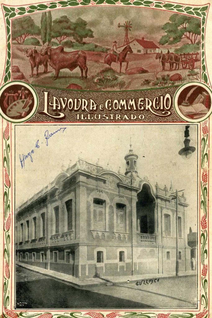 Capa da Revista Lavoura e Commercio Illustrado