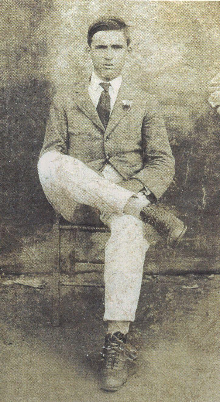 Chiquinho Machado aos 18 anos