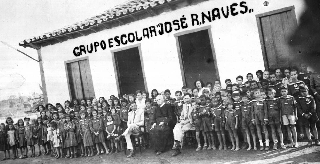 Grupo Escolar 'José Rodrigues Naves', criado em 1948, em São Geraldo