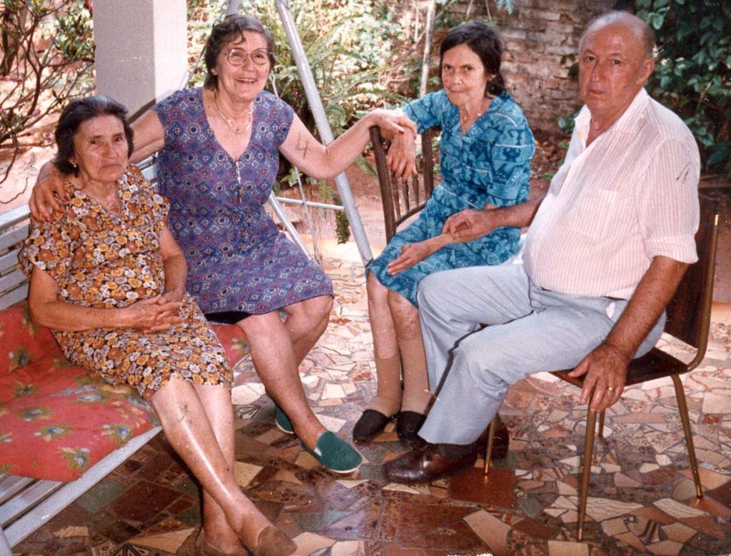 Irmãs e irmão: Maria, Benedita, Lídia e Jeremias Machado Sobrinho