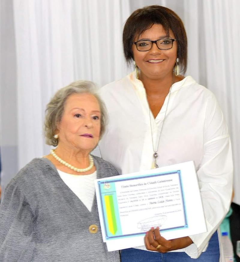 Maria Luíza e a vereadora Katia Tourinho