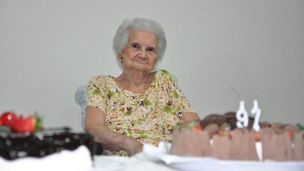 Professora Lígia Maria Coelho Rebelo, aos 97 anos