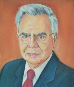 Professor Modesto Gomes, em quadro da AGL